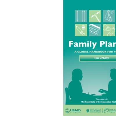 WHO, Family Planning, a Global Handbook for Providers