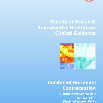 Royal College of Obstetricians & Gynaecologists, Combined Hormonal Contraception