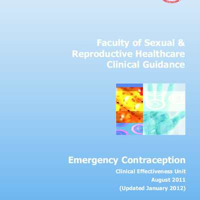 Royal College of Obstetricians & Gynaecologists, Emergency Contraception