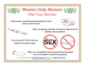 WHW after abortion care ENGLISH